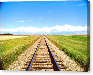 Lonesome Railroad Canvas Print