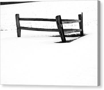 Lonesome Snow Canvas Print by Michael L Kimble