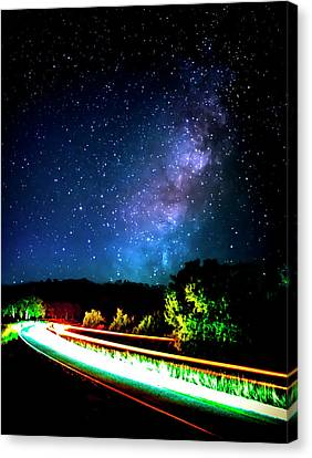 Canvas Print featuring the photograph Lonesome Texas Highway by David Morefield