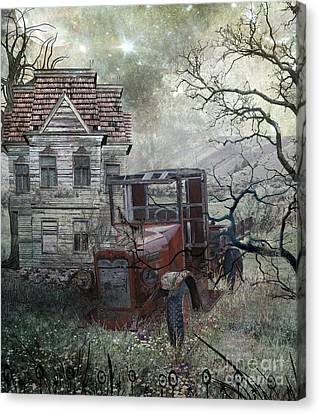 Abandoned Houses Canvas Print - Long Ago Forgotten by Tammera Malicki-Wong