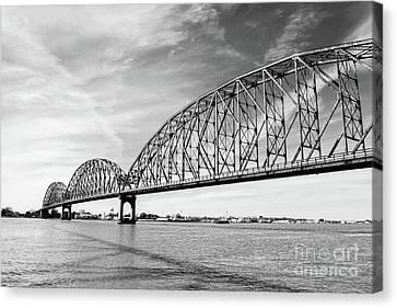 Canvas Print - Long-allen Bridge Morgan City by Scott Pellegrin