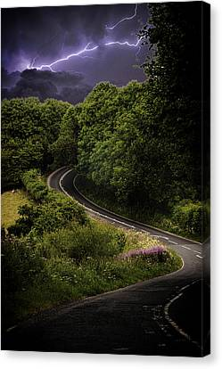 Long And Winding Road Canvas Print by Martin Newman