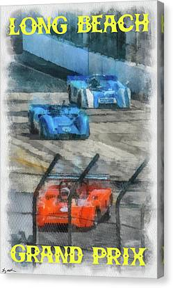 Long Beach Grand Prix Poster Canvas Print by Tommy Anderson