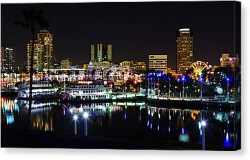 Long Beach Lights Canvas Print by Adam Pender