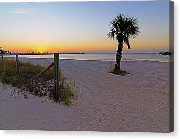 Canvas Print featuring the photograph Long Beach Sunrise - Mississippi - Beach by Jason Politte