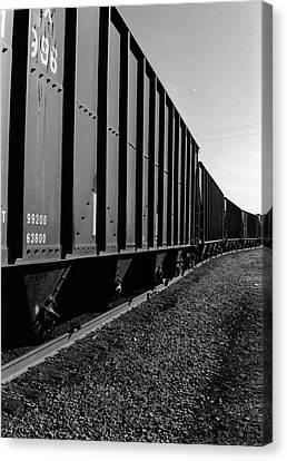 Canvas Print featuring the photograph Long Black Train by Tara Lynn