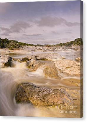 Babbling Canvas Print - Long Exposure Of The Pedernales River - Pedernales Falls State Park Texas Hill Country by Silvio Ligutti