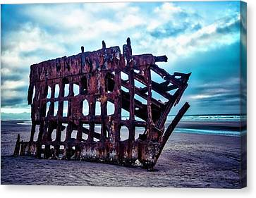 Fort Stevens State Park Canvas Print - Long Forgotten Shipwreck by Garry Gay