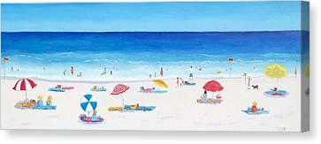 Sandy Beach Canvas Print - Long Hot Summer by Jan Matson