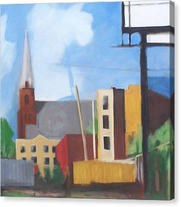 Long Island City Church Canvas Print
