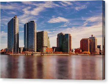 Canvas Print featuring the photograph Long Island City Skyline Nyc by Susan Candelario