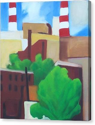 Long Island City View Canvas Print by Ron Erickson