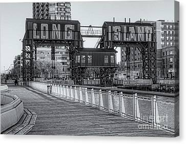Long Island Railroad Gantry Cranes Iv Canvas Print by Clarence Holmes