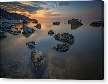 Long Island Sound Tranquility Canvas Print by Rick Berk