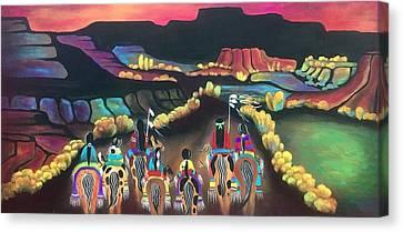 Long Journey Canvas Print