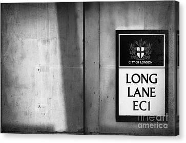 Long Street Canvas Print - Long Lane Ec1 by Rod McLean