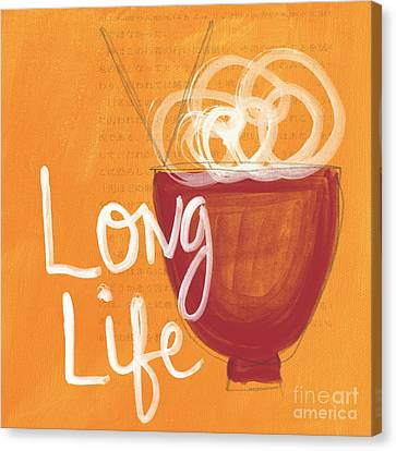 Long Life Noodle Bowl Canvas Print by Linda Woods