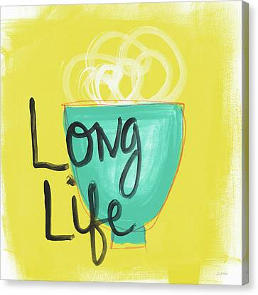 Long Life Noodles- Art By Linda Woods Canvas Print by Linda Woods
