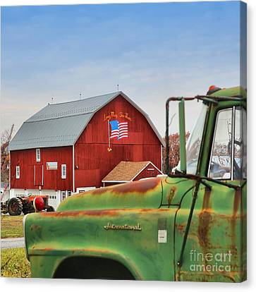 Canvas Print featuring the photograph Long May She Wave by DJ Florek