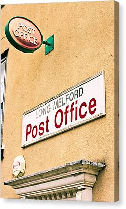Long Melford Post  Office Canvas Print by Tom Gowanlock