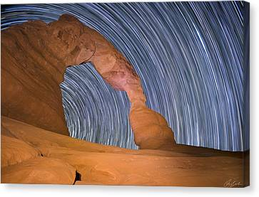 Long Night At Delicate Arch Canvas Print