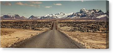 Canvas Print featuring the photograph Long Road Ahead by Wade Courtney
