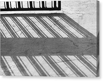 Long Shadow Of Metal Gate Canvas Print by Prakash Ghai