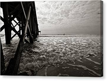 Long To Surf Canvas Print by David Sutton