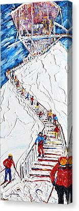Long Way Down Verbier, Mt Fort Canvas Print