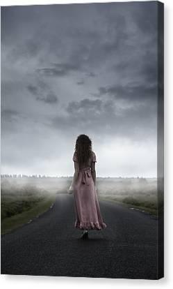 Long Street Canvas Print - Long Way To Walk by Joana Kruse