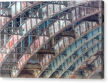 Longfellow Bridge Arches II Canvas Print by Clarence Holmes