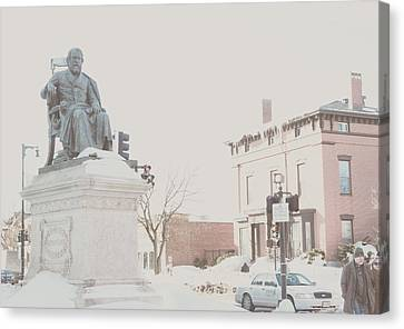 Longfellow Square Canvas Print by Victory  Designs