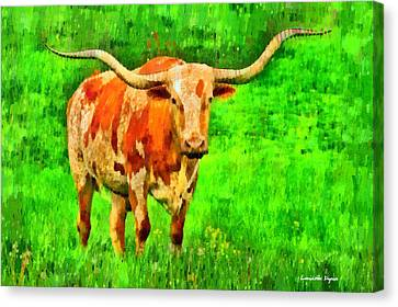 Longhorn 2 - Da Canvas Print by Leonardo Digenio
