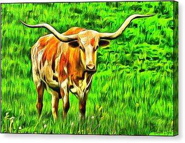 Longhorn - Da Canvas Print by Leonardo Digenio
