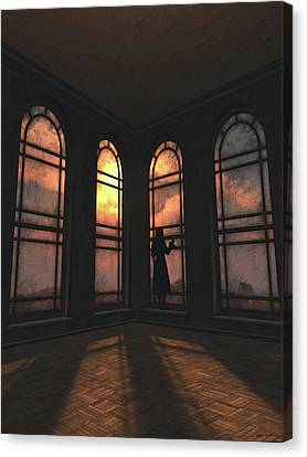 Old House Canvas Print - Longing by Cynthia Decker