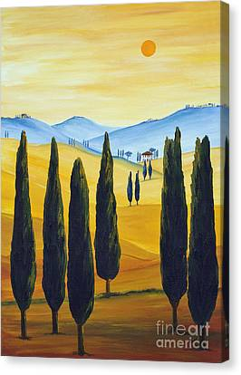 Longing For Tuscany Canvas Print by Christine Huwer
