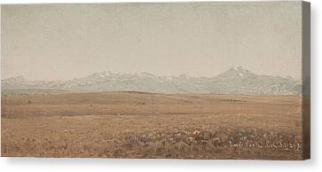 Longs Peak Colorado Canvas Print by Sanford Robinson Gifford