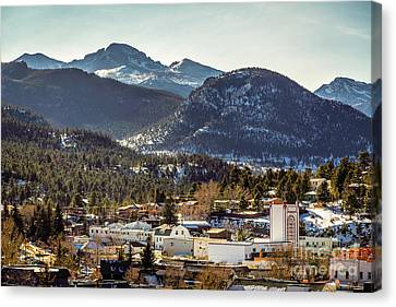 Longs Peak From Estes Park Canvas Print by Jon Burch Photography
