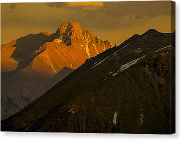 Canvas Print featuring the photograph Long's Peak by Gary Lengyel