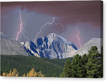 Longs Peak Lightning Storm Fine Art Photography Print Canvas Print