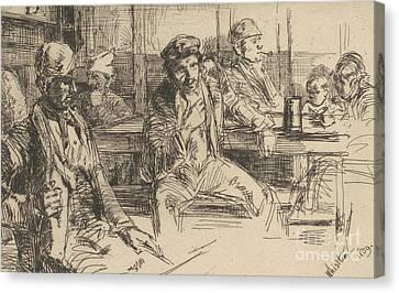 Londoners Canvas Print - Longshoreman, 1859 by James Abbott McNeill Whistler