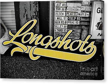 Canvas Print featuring the photograph Longshots - Sign by Colleen Kammerer