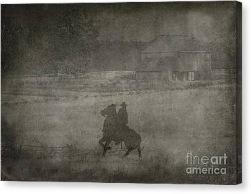 Longstreet Rides Again Canvas Print by Randy Steele