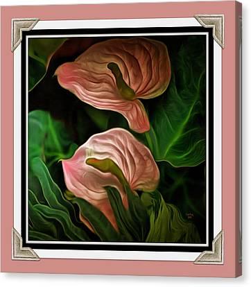 Longwood Lilies Canvas Print by Trish Tritz