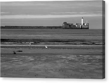 Lonley Sea Canvas Print by Jez C Self