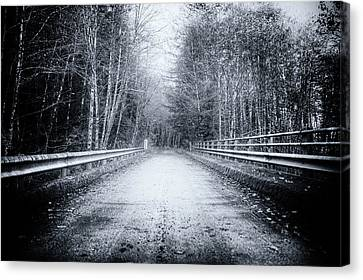 Canvas Print featuring the photograph Lonliness Highway by Spencer McDonald