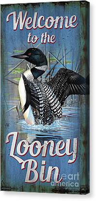 Canvas Print - Lonney Bin Sign by Cynthie Fisher