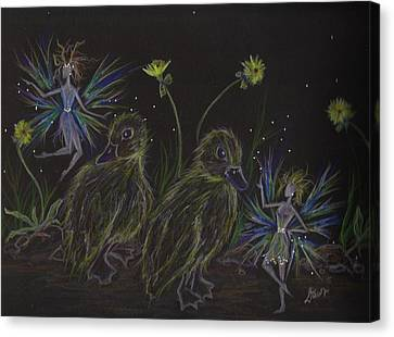 Look At Me When I'm Talking To You Stay Outta The Road Canvas Print by Dawn Fairies