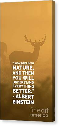 Look Deep Into Nature Phone Case Canvas Print by Edward Fielding