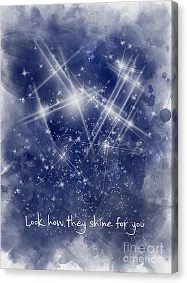 Coldplay Canvas Print - Look How They Shine For You by Rebecca Jenkins